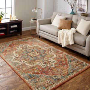 Area Rug in living room | Warnike Carpet & Tile